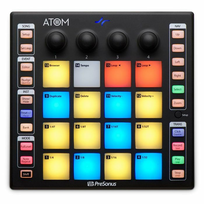 PRESONUS - Presonus Atom Production & Performance Pad Controller With Studio One Artist Production Software