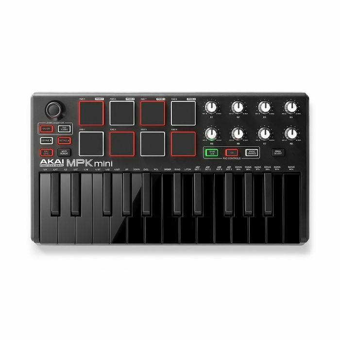 AKAI - Akai MPK Mini Mk2 Performance USB MIDI Pad & Keyboard Controller With Production Software Package (LIMITED EDITION BLACK VERSION)