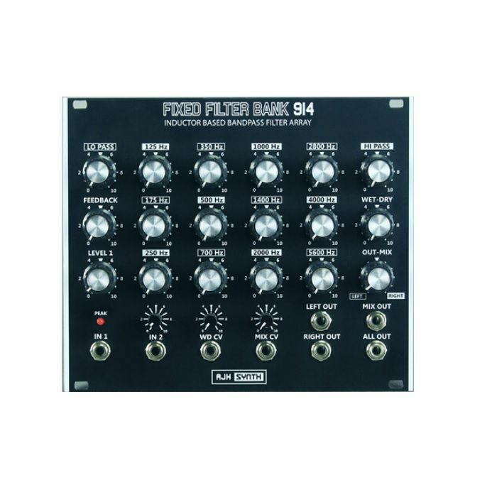 AJH SYNTH - AJH Synth Fixed Filter Bank 914 Inductor Based Bandpass Filter Array Module (black)
