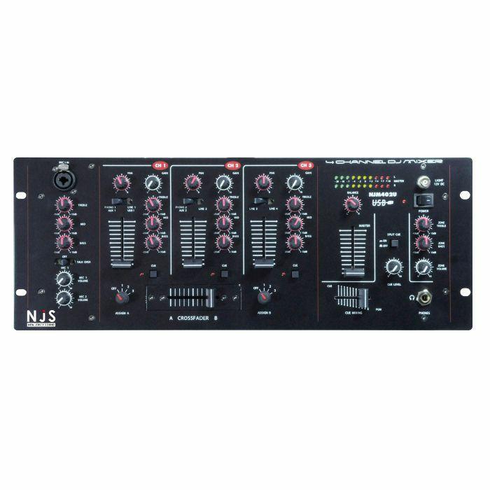 NEW JERSEY SOUND - New Jersey Sound NJM402U 4 Channel Rackmount DJ Mixer With USB Input