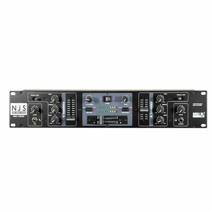 New Jersey Sound DJX 1800U 2 Channel Rackmount DJ Mixer
