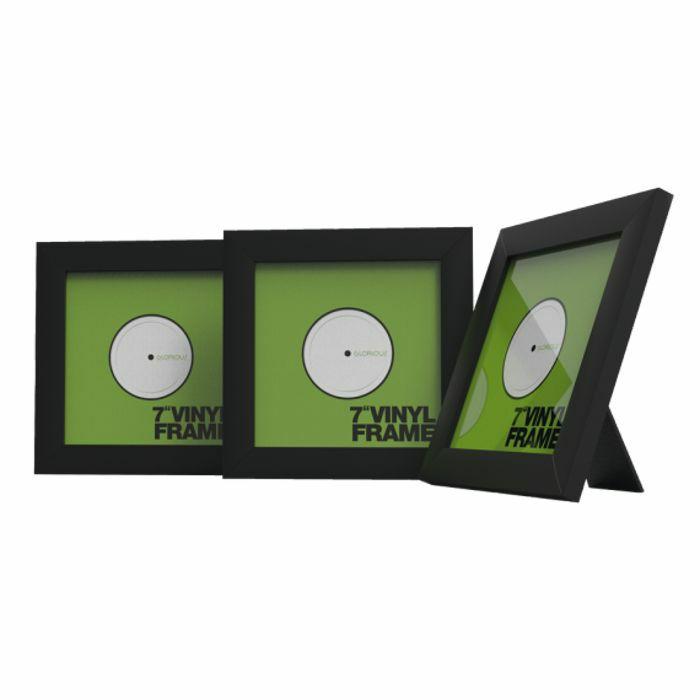 Glorious 7 Inch Vinyl Record Frame Holder (black, pack of 3)