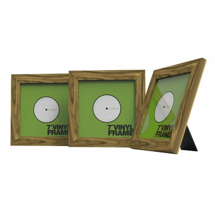 Glorious 7 Inch Vinyl Record Frame Holder (rosewood, pack of 3)