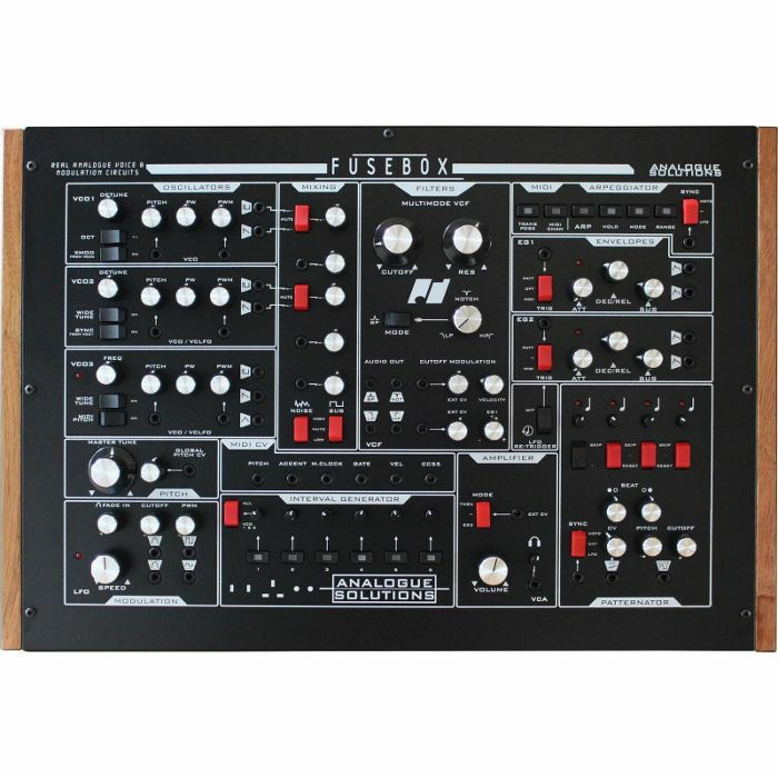 ANALOGUE SOLUTIONS - Analogue Solutions Fusebox 3 VCO True Analogue Mono Synthesiser (limited edition of 50 units black version)