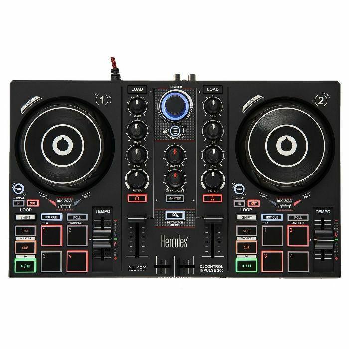 HERCULES - Hercules DJ Control Inpulse 200 DJ Controller With DJuced DJ Software