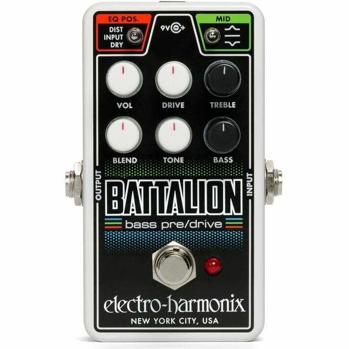 ELECTRO HARMONIX - Electro Harmonix Nano Battalion Bass Preamp & Overdrive Pedal