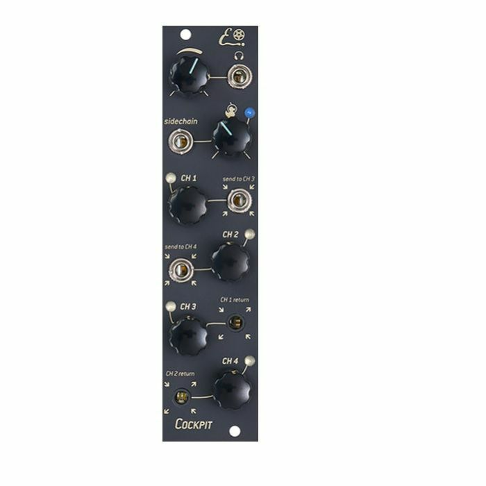 ENDORPHIN.ES - Endorphin.es BLCK Cockpit 4 Stereo Channel Performance Mixer Module (black faceplate)