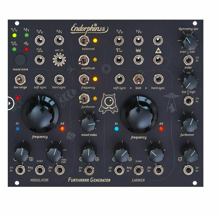 ENDORPHIN.ES - Endorphin.es BLCK Furthrrrr Generator Dual VCO Module (black faceplate)