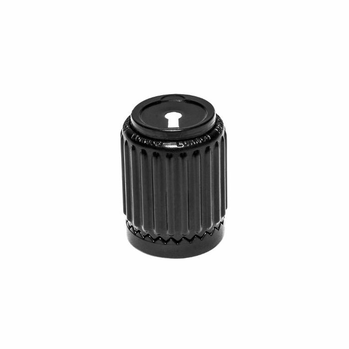 LOKNOB - Loknob 14129B Universal ABS Plastic 1/2 Inch For Boss Type Pedals With M7 Threaded Pots (black, small)