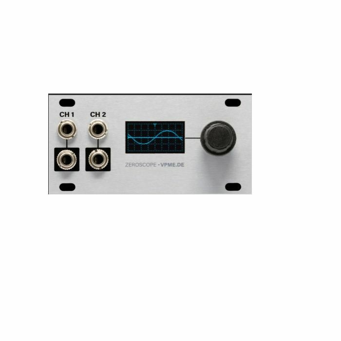 INTELLIJEL - Intellijel Zeroscope 1U Dual Channel Oscilloscope, Frequency Meter & Tuner Module