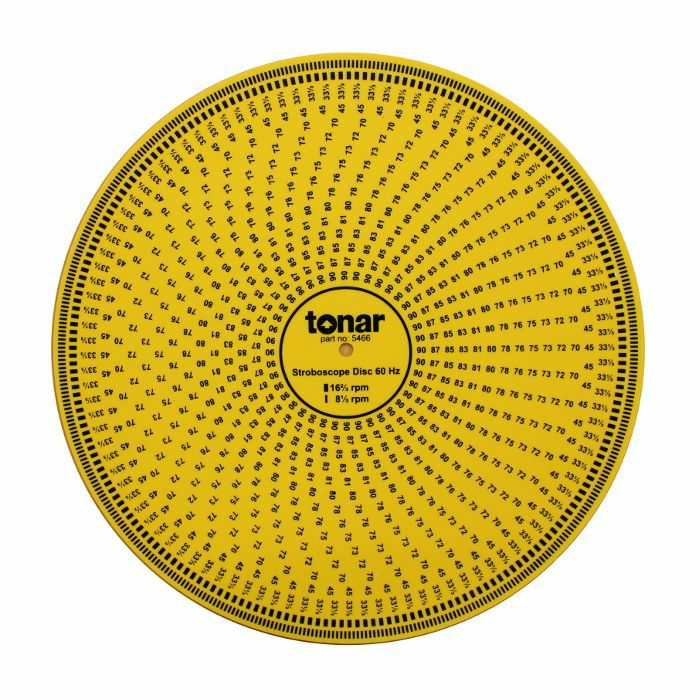 TONAR - Tonar 12 Inch Acrylic Stroboscopic Disc For Calibrating Turntable Speed (50 & 60Hz compatible)