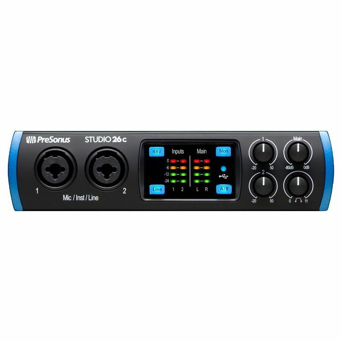 PRESONUS - Presonus Studio 26c 2x4 USB-C Audio & MIDI Interface *** GET 3 MONTHS OF FREE AUTOTUNE UNLIMITED WITH THIS PRODUCT IF PURCHASED BETWEEN 1st MARCH-31st MAY 2021 ***