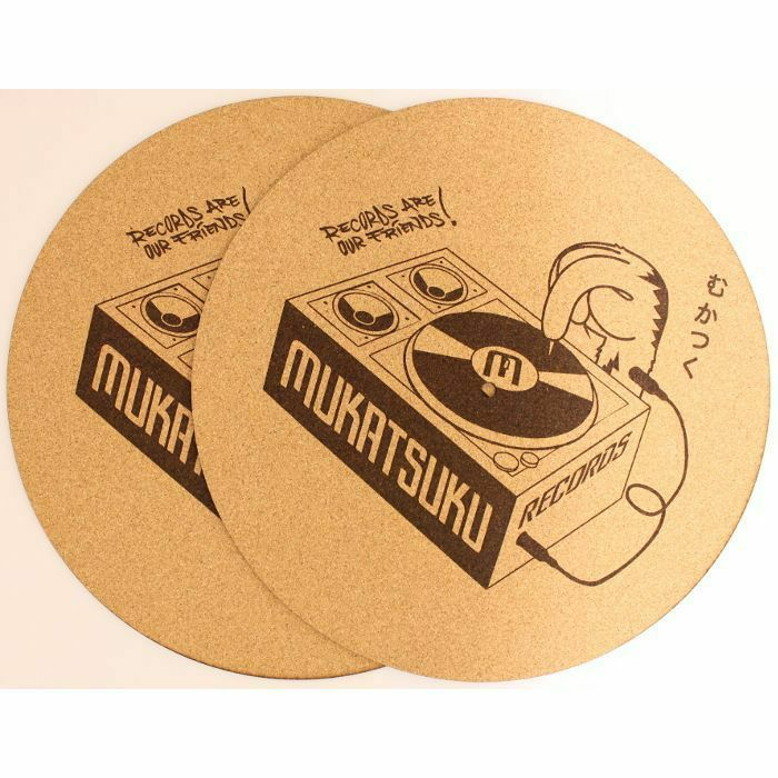 MUKATSUKU - Mukatsuku Outline Logo 12'' Cork Slipmats (pair) *Juno Exclusive*