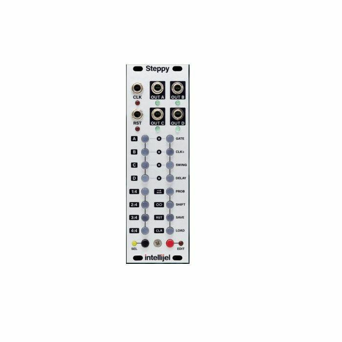 INTELLIJEL - Intellijel Steppy 4 Track 64 Step Programmable Gate Sequencer Module