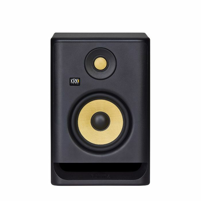 KRK - KRK Rokit RP5 G4 Active Studio Monitor Speaker (single, black with yellow cone)