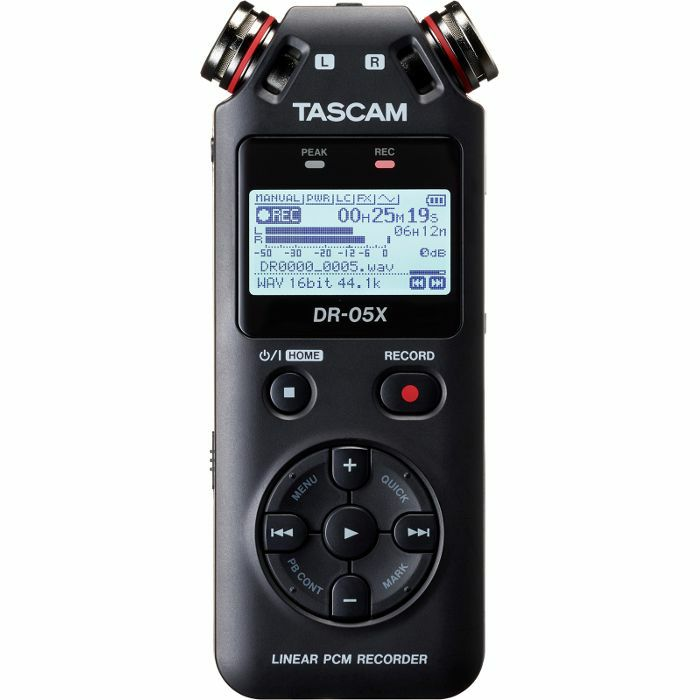 TASCAM - Tascam DR05X Stereo Handheld Digital Audio Recorder & USB Audio Interface