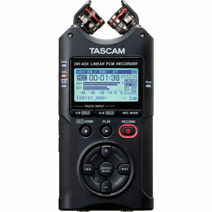 TASCAM - Tascam DR40X Four Track Handheld Digital Audio Recorder & USB Audio Interface