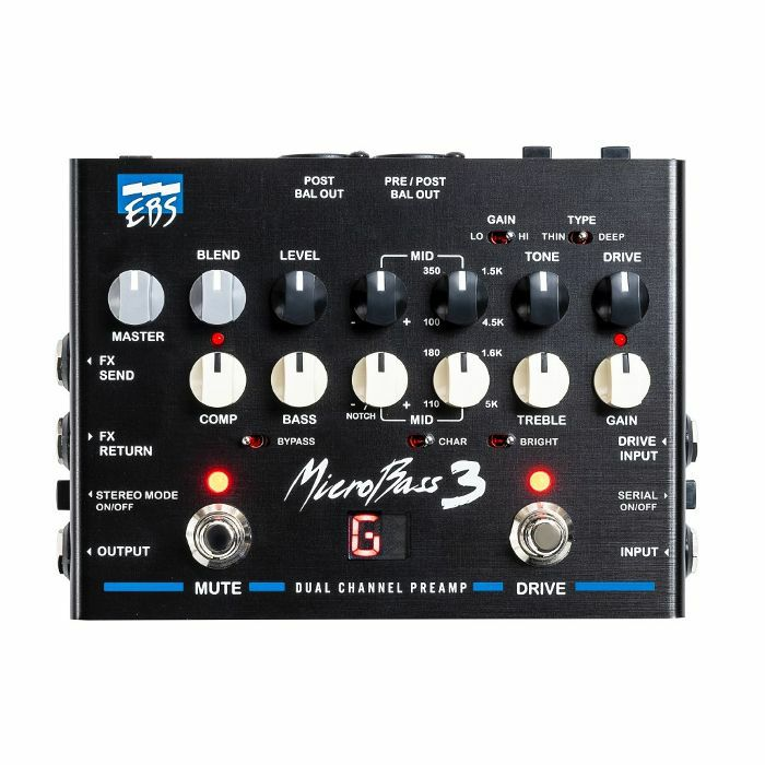 EBS - EBS MicroBass 3 Preamp Pedal
