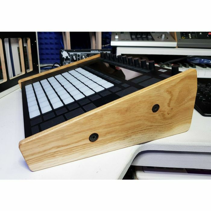 SYNTHS & WOOD - Synths & Wood Solid Oak End Cheeks Stand For Ableton Push 2 Controller