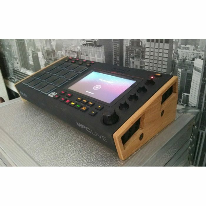 Synths & Wood Solid Oak End Cheeks Stand For Akai MPC Live Sampler &  Sequencer