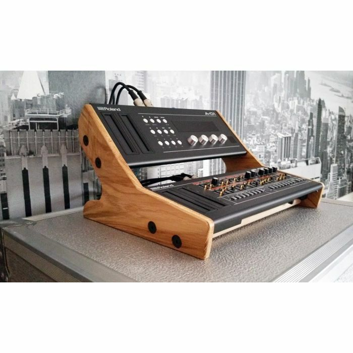 SYNTHS & WOOD - Synths & Wood Solid Oak End Cheeks Dual Stand Mk2 For Roland Boutique Series