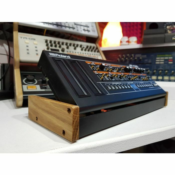 SYNTHS & WOOD - Synths & Wood Solid Oak End Cheeks Stand For Roland Boutique DK01 Docking Station