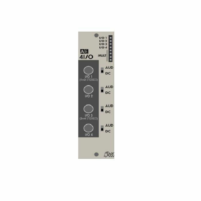 TANGIBLE WAVES - Tangible Waves AE Modular 4I/O Four Minijack Inputs & Outputs Module