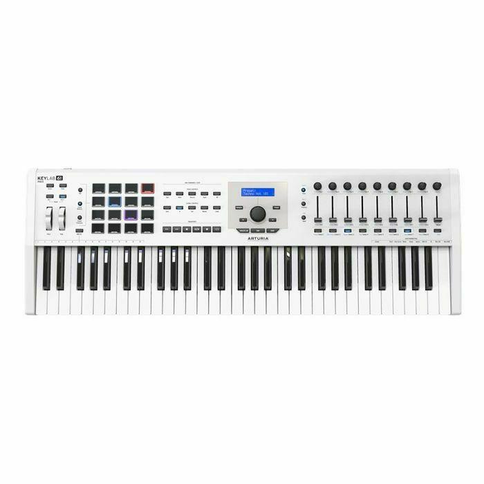 ARTURIA - Arturia Keylab MkII 61 Key USB MIDI Controller Keyboard (white) ***ART OF KEYS PROMO - INCLUDES FREE SOFTWARE INSTRUMENTS*** (B-STOCK)