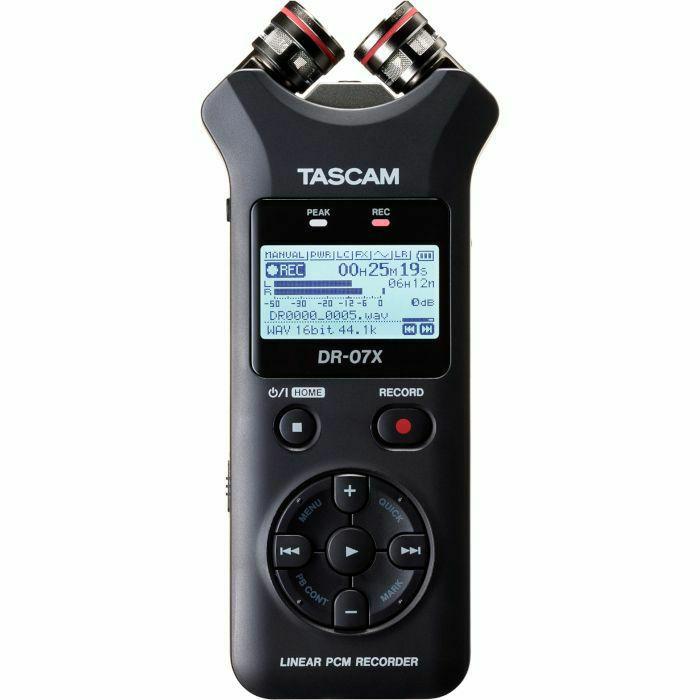 TASCAM - Tascam DR07X Stereo Handheld Digital Audio Recorder & USB Audio Interface (B-STOCK)