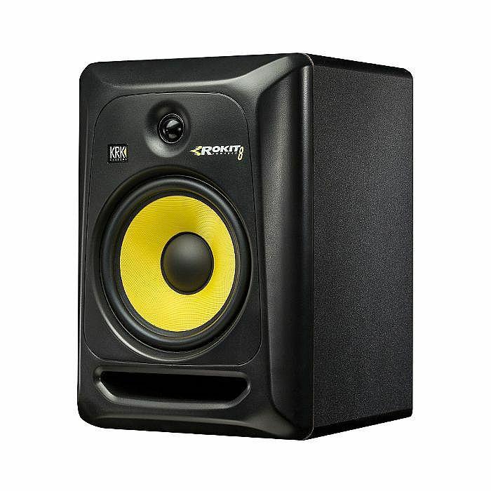 KRK - KRK Rokit RP8 G3 Active Studio Monitor Speakers (pair, black with yellow cone)