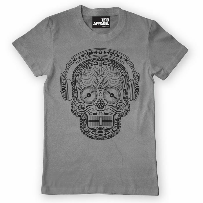 DMC - Skull & Phones T Shirt (grey, medium)