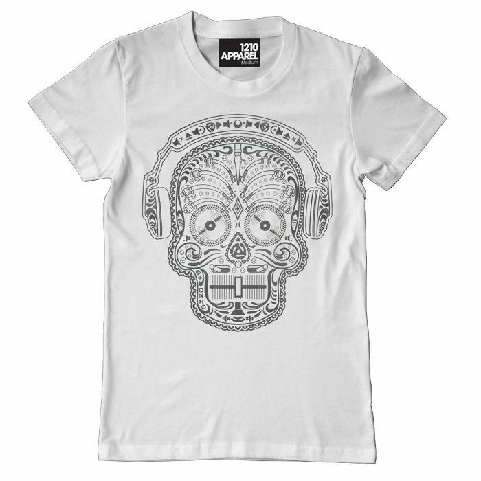 DMC - Skull & Phones T Shirt (white, small)