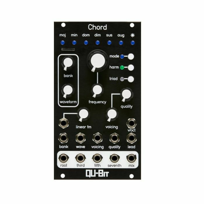 QU BIT - Qu-Bit Chord v2 Polyphonic Oscillator Module (black faceplate)