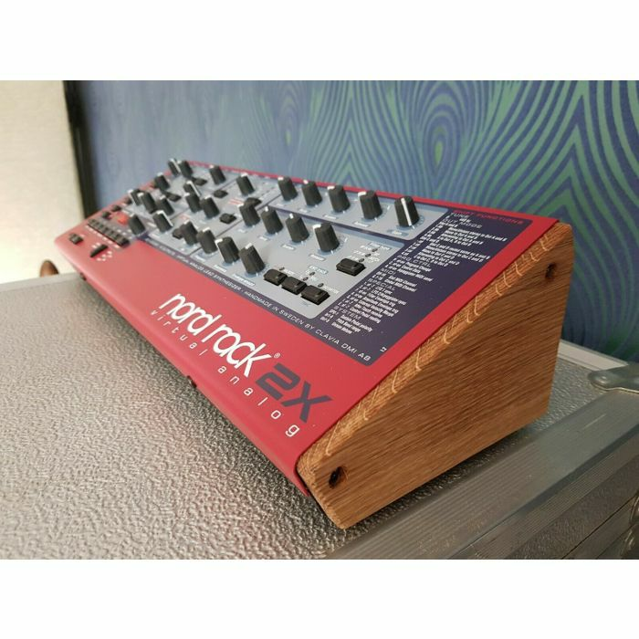 SYNTHS & WOOD - Synths & Wood Solid Oak End Cheeks Stand Clavia Nord Rack 2X Synthesiser