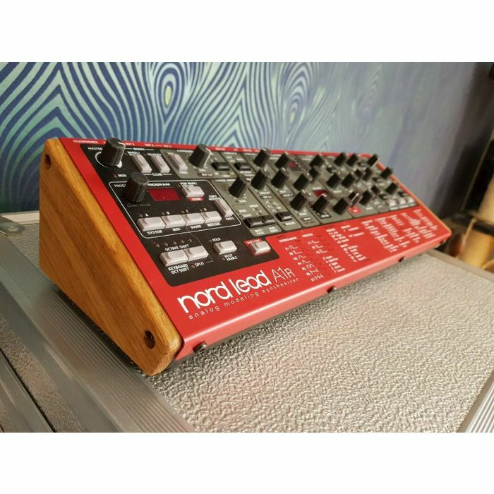 SYNTHS & WOOD - Synths & Wood Solid Oak End Cheeks Stand For Clavia Nord Lead A1R Synthesiser
