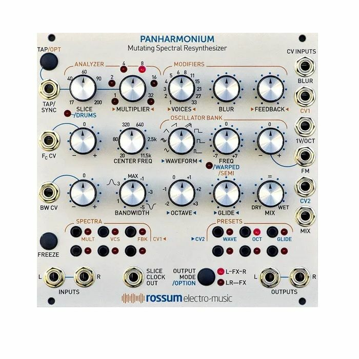 ROSSUM ELECTRO-MUSIC - Rossum Electro-Music Panharmonium Mutating Spectral Resynthesiser Module