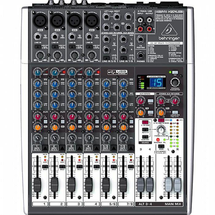 BEHRINGER - Behringer X1204 USB Xenyx Premium 12 Input 2/2 Bus Mixer + Tracktion 4 Audio Production Software (B-STOCK)