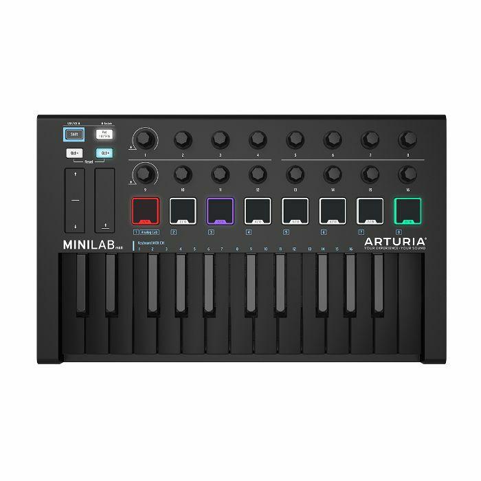 ARTURIA - Arturia MiniLab MKII USB Controller Keyboard & Software Bundle (limited deep black edition)