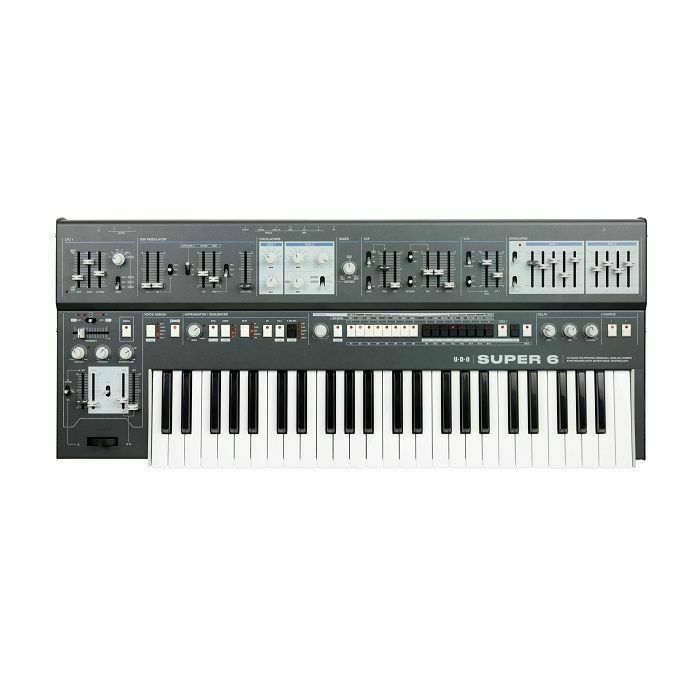 UDO AUDIO - UDO Audio Super 6 12 Voice Polyphonic Binaural Analogue Hybrid Synthesiser (black)