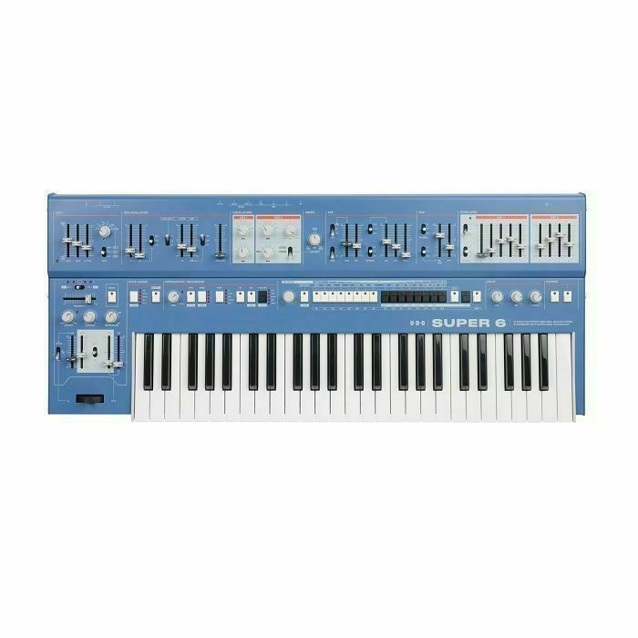 UDO AUDIO - UDO Audio Super 6 12 Voice Polyphonic Binaural Analogue Hybrid Synthesiser (blue)