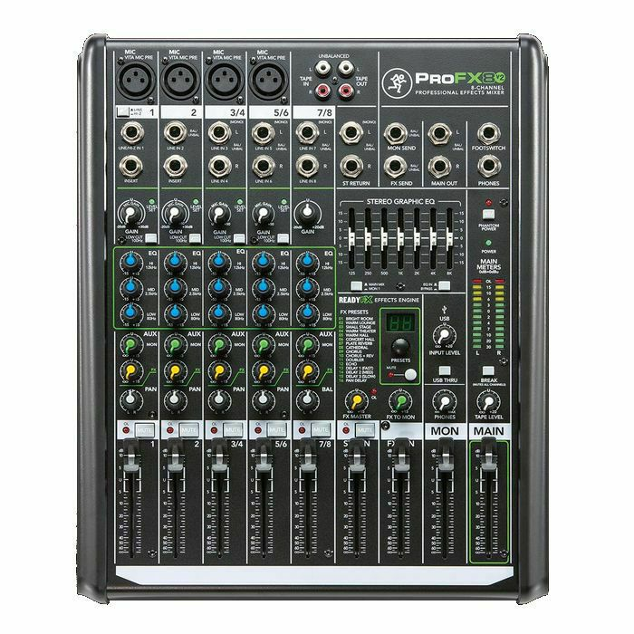 MACKIE - Mackie Pro FX8 v2 Mixer With Built In Effects & Tracktion Recording Software (B-STOCK)