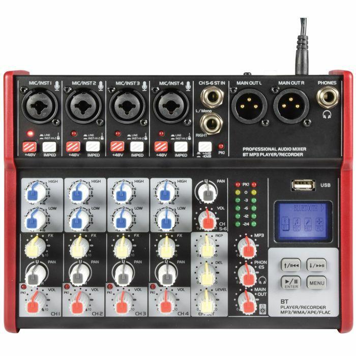 CITRONIC - Citronic CSM6 Mixer With USB & Bluetooth Player