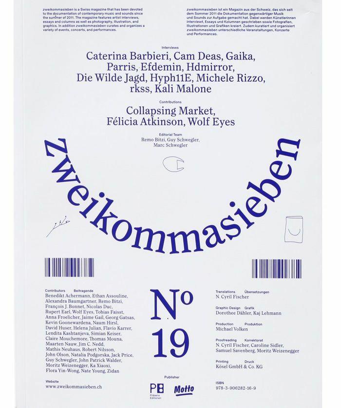 ZWEIKOMMASIEBEN MAGAZIN - Zweikommasieben Magazin #19