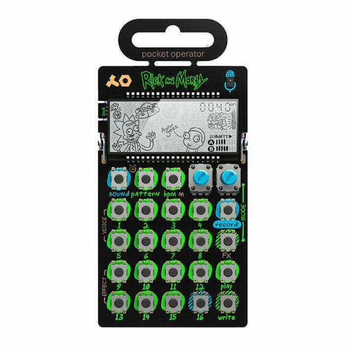 TEENAGE ENGINEERING - Teenage Engineering PO137 Rick & Morty Pocket Operator Vocal Synthesiser & Sequencer With Built In Microphone