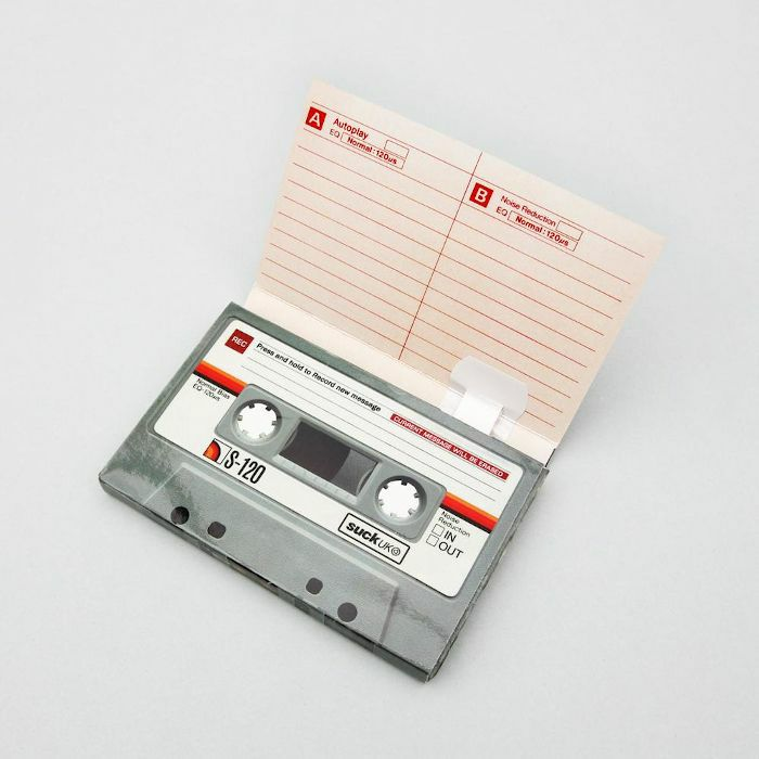 SUCK UK - Suck UK Send A Sound Cassette Tape Shaped Recordable Greeting Card