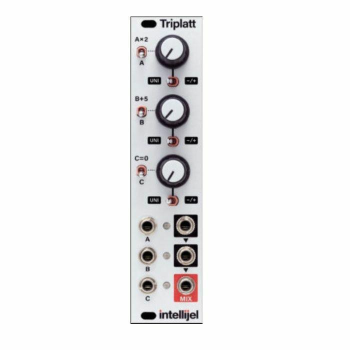 INTELLIJEL - Intellijel Triplatt 3U Attenuator/Inverter/Attenuverter/Multiplier/Adder/Mixer & DC Voltage Source Module