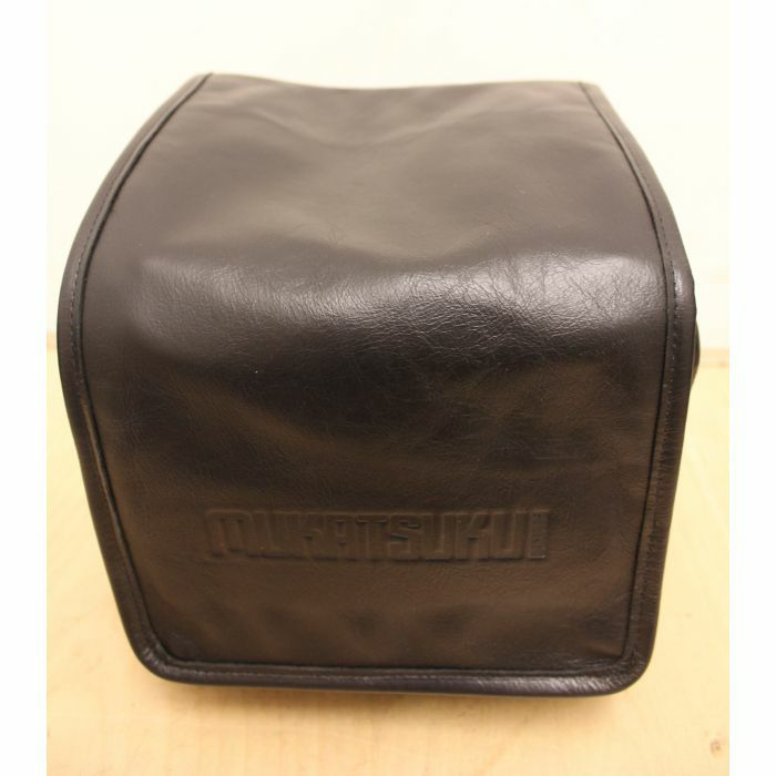 MUKATSUKU - Mukatsuku Records Are Our Friends Deluxe Black Leather 7 Inch 45 Vinyl Record Bag Version 2 (vintage soft black leather, holds up to 80 x 7'' singles) *Juno Exclusive*
