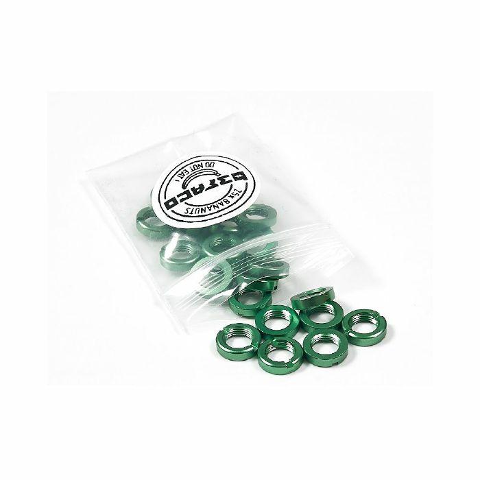 BEFACO - Befaco Bananuts Anodised Aluminium Custom Minijack Nuts (green, pack of 25)
