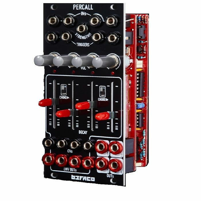 BEFACO - Befaco Percall Quad VCA With Decay Envelope Module
