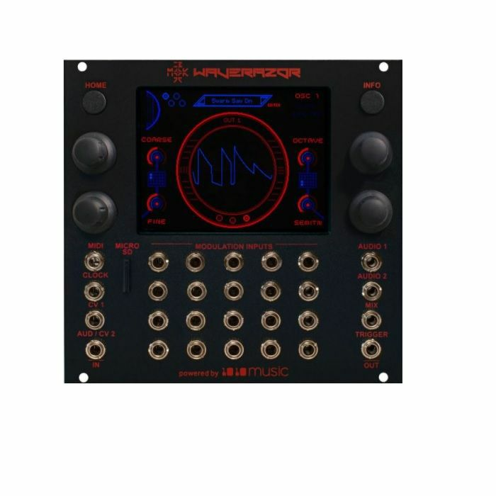 1010 MUSIC/MOK - 1010 Music Waverazor Dual Oscillator Module With MOKs Patented Wave Slicing